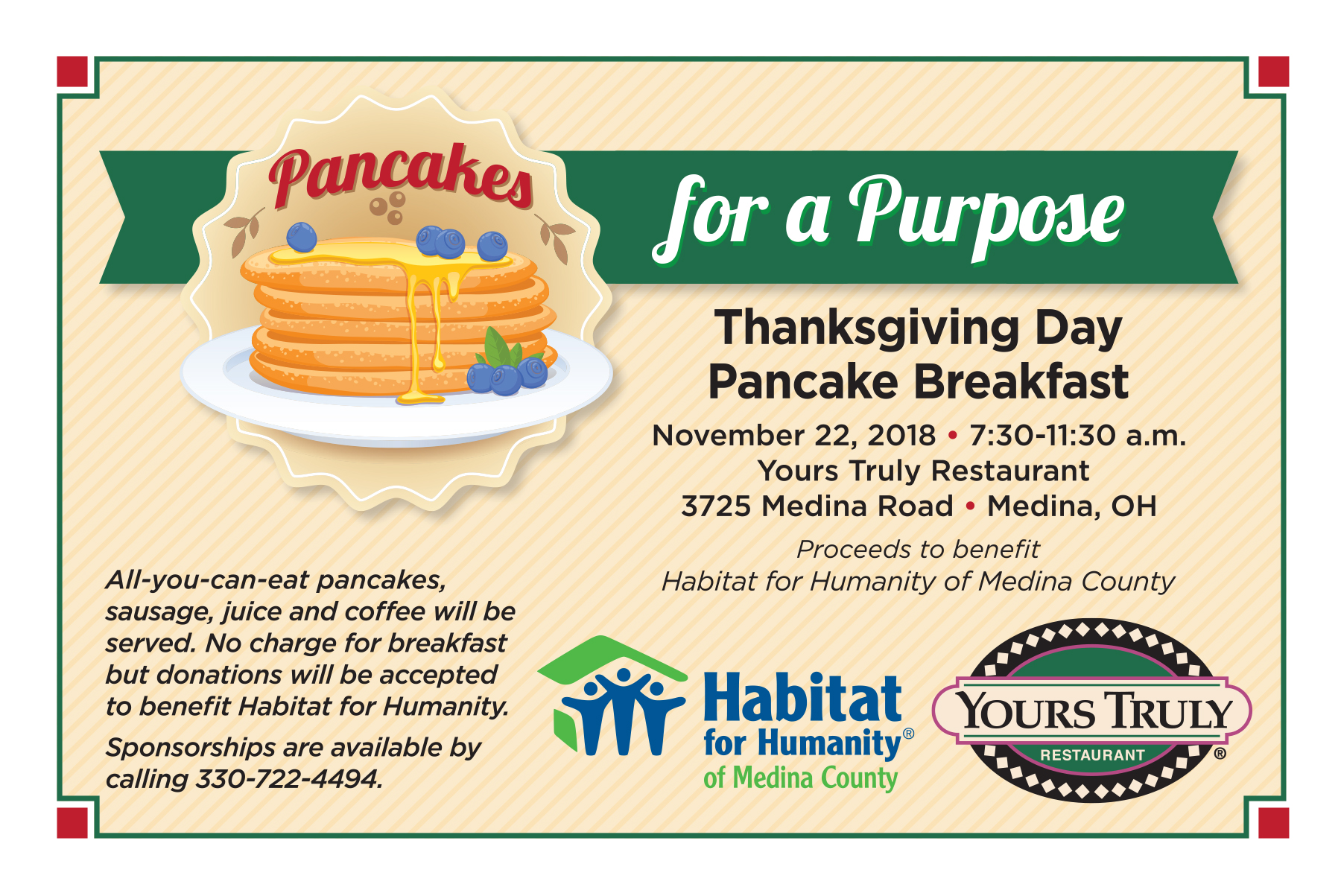 Thanksgiving Day Fundraiser